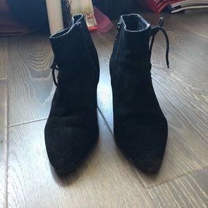 Topshop black suede ankle boots